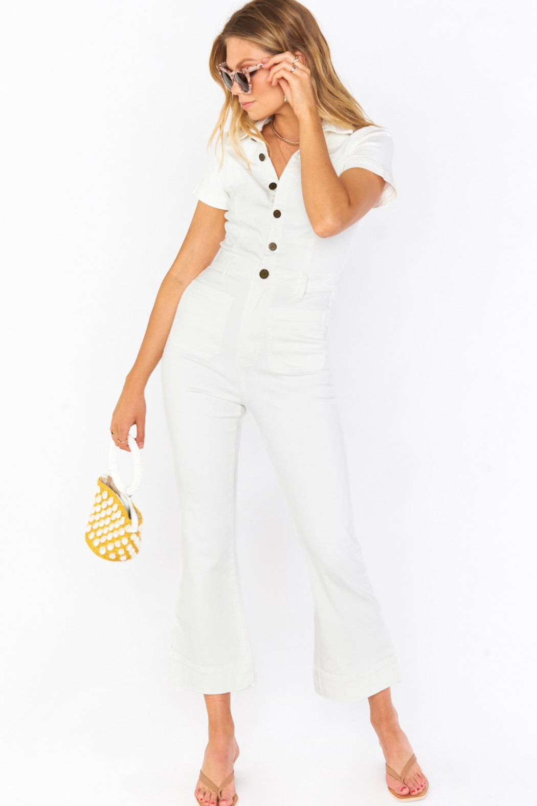 Show Me Your Mumu Cropped Everheart Jumpsuit - Front Cropped Image
