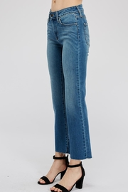 just black Cropped Fare Jean - Front full body