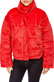 Best Mountain Cropped Faux Fur Puffer Jacket - Product Mini Image