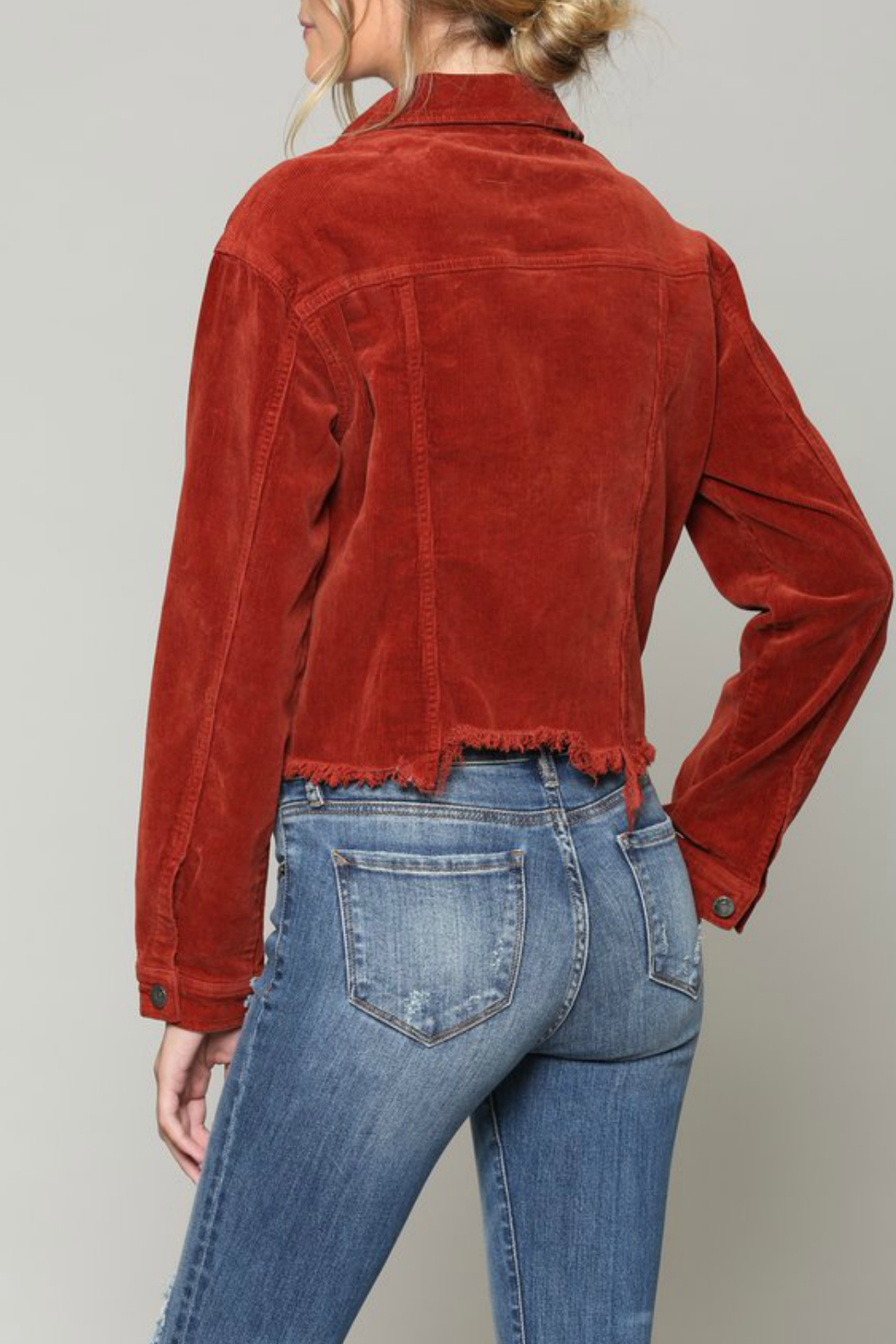 Hidden Jeans Cropped fitted jacket - Side Cropped Image