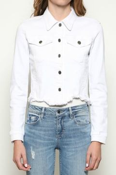 Hidden Jeans Cropped Fitted Jacket - Product List Image