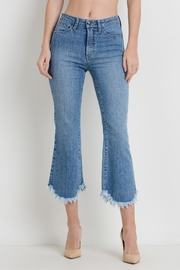 just black Cropped Flare Jeans - Product Mini Image