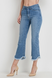 just black Cropped Flare Jeans - Front full body