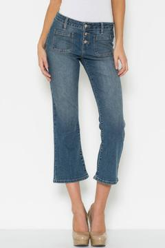 Poe and Arrows Cropped Flare Jeans - Product List Image