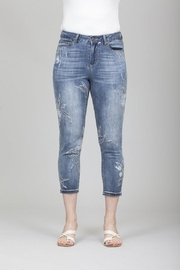 GG Jeans Cropped Floral Jean - Product Mini Image