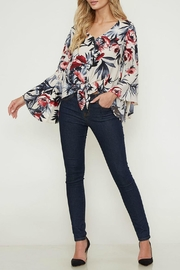 Peach Love California Cropped Floral Top - Product Mini Image
