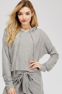 Shoptiques Product: Cropped Grey Hoodie