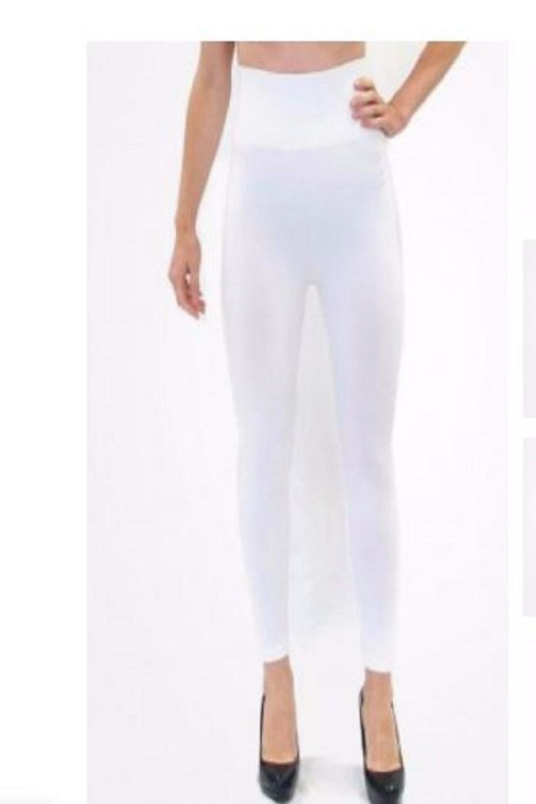 ELETIAN Cropped High Leggings - Front Cropped Image
