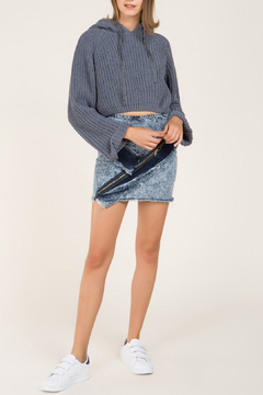 Pol Clothing Cropped Hooded Sweater - Alternate List Image