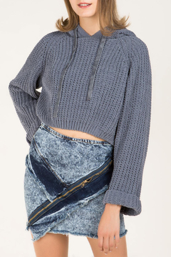 Pol Clothing Cropped Hooded Sweater - Product List Image