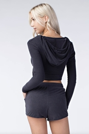 Honey Punch Cropped Hooded Sweater - Side cropped