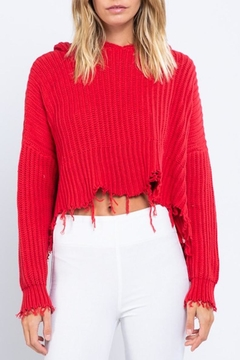 Shoptiques Product: Cropped Hoodie Sweater