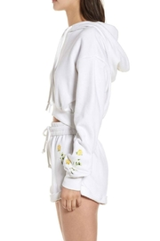 Kendall + Kylie Cropped Hoodie - Front full body