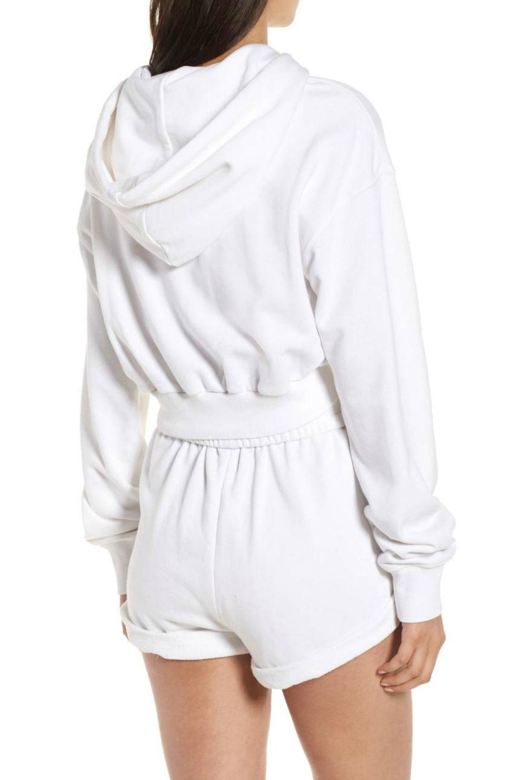 Kendall + Kylie Cropped Hoodie - Side Cropped Image