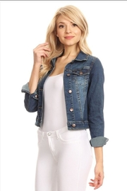 AAAAA FASHIONS Cropped Jean Jacket - Product Mini Image