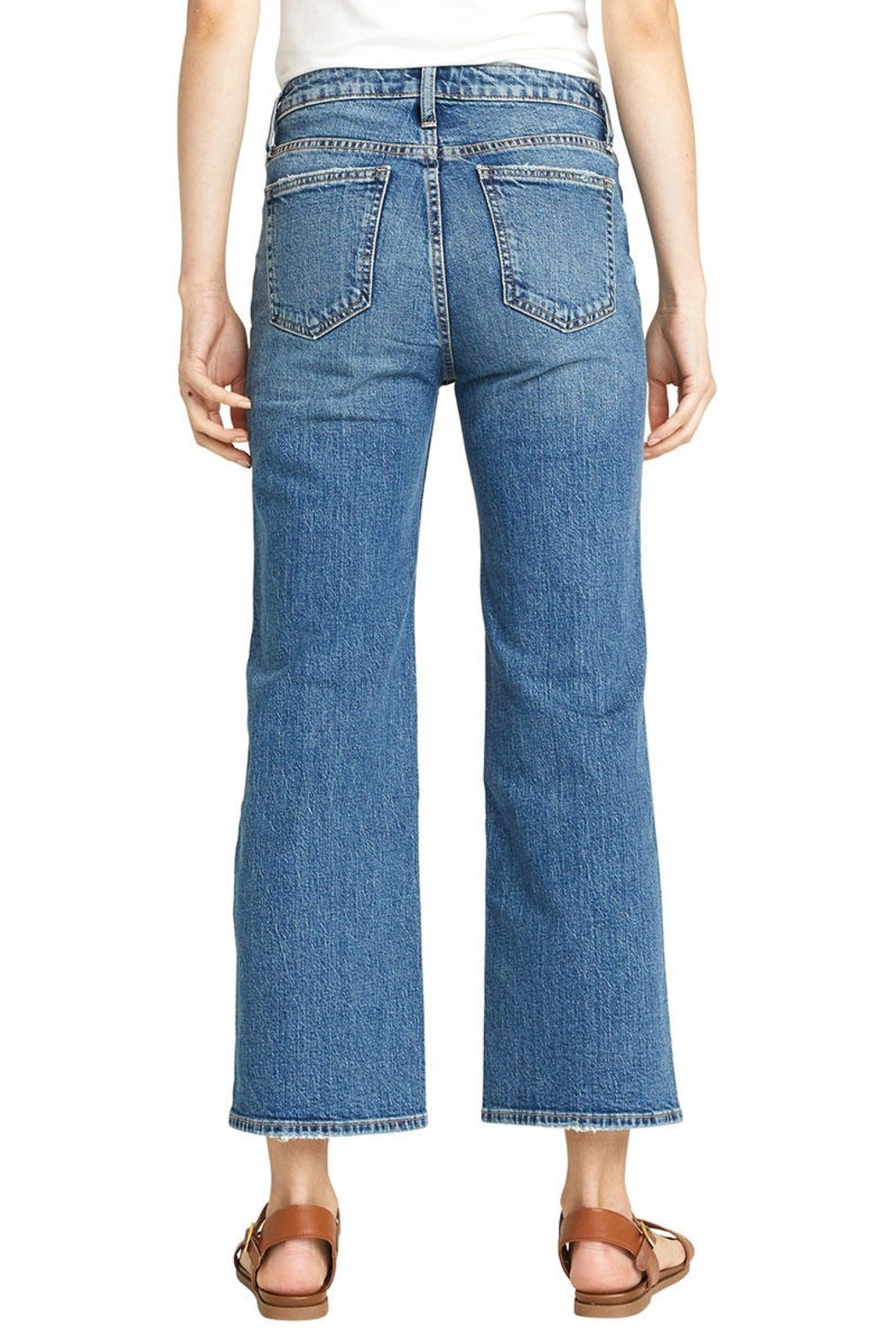 Silver Jeans Co. cropped jeans - Front Full Image