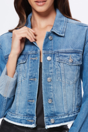 Paige Denim Cropped Jojo Jacket - Back cropped