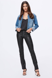 Paige Denim Cropped Jojo Jacket - Front cropped