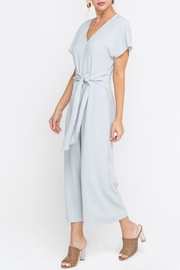 Lush Cropped Jumpsuit, Gray - Front full body
