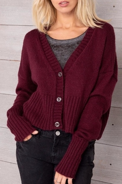 Shoptiques Product: Cropped Knit Cardigan