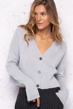 Wooden Ships Cropped Knit Cardigan - Product List Image