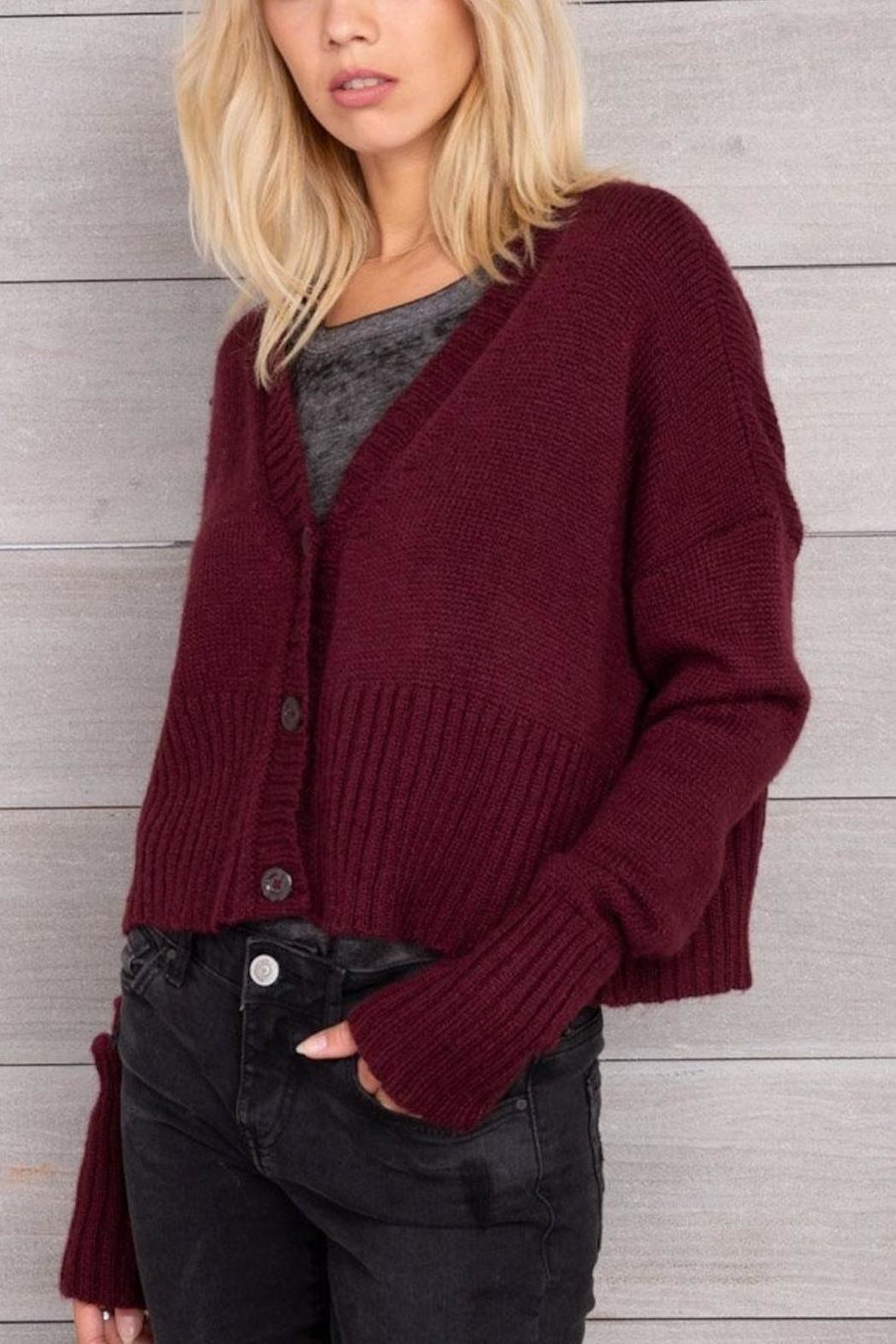 Wooden Ships Cropped Knit Cardigan - Main Image