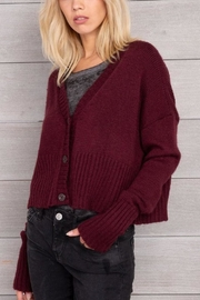 Wooden Ships Cropped Knit Cardigan - Front cropped