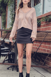 Mustardseed CROPPED KNIT SWEATER - Front cropped