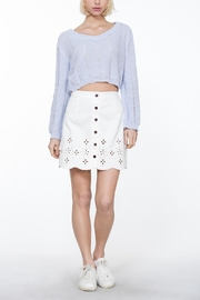 En Creme Cropped Knit Sweater - Other