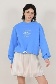 Molly Bracken Cropped Knitted Sweatshirt - Product Mini Image