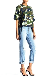 Kendall + Kylie Cropped Lace-Up Tee - Front full body