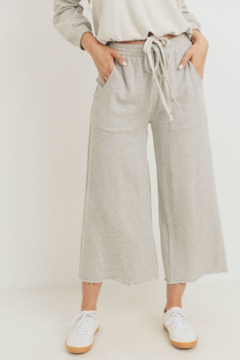 Paper Crane Cropped Length Detailed Terry Pants - Product List Image