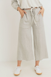 Paper Crane Cropped Length Detailed Terry Pants - Product Mini Image