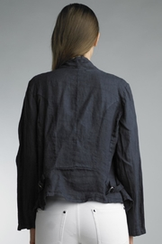 Tempo Paris Cropped Linen Jacket - Front full body