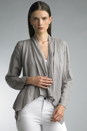 Tempo Paris Cropped Linen Jacket - Front cropped