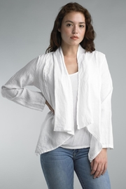 Tempo Paris Cropped Linen Jacket - Product Mini Image