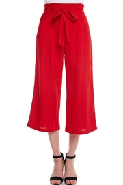 Love Tree Cropped Linen Pants - Product Mini Image