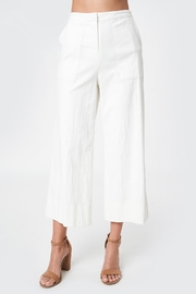 Sugar Lips Cropped Linen Trousers - Product Mini Image