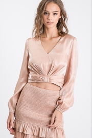 Idem Ditto  Cropped Metallic Blouse - Product Mini Image