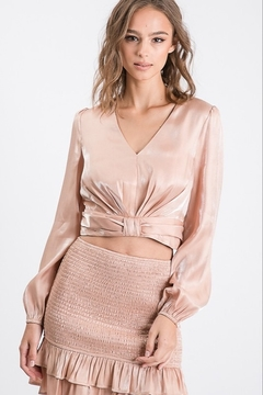 Idem Ditto  Cropped Metallic Blouse - Product List Image