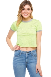 Tres Bien Cropped Neon Shirt - Product Mini Image