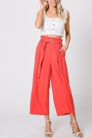 Lyn -Maree's Cropped Palazzo Pant - Front cropped