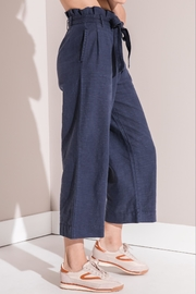 rag poets Cropped Paperbag Pants - Back cropped