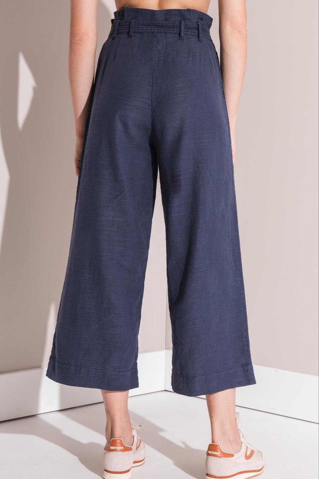 rag poets Cropped Paperbag Pants - Front Full Image