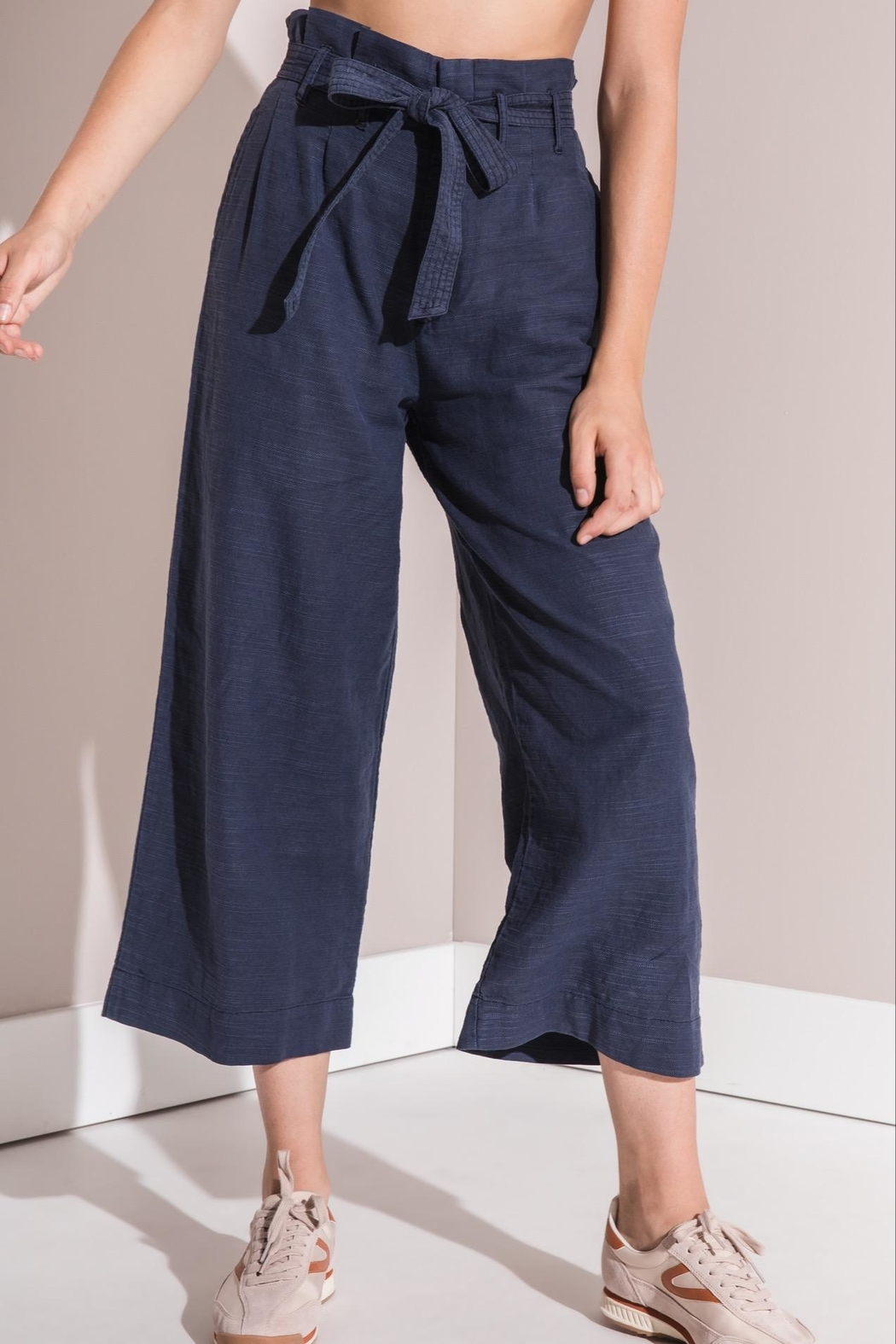 rag poets Cropped Paperbag Pants - Front Cropped Image
