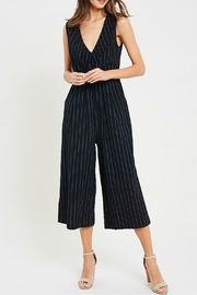Wishlist Cropped Pinstripe Jumpsuit - Product Mini Image