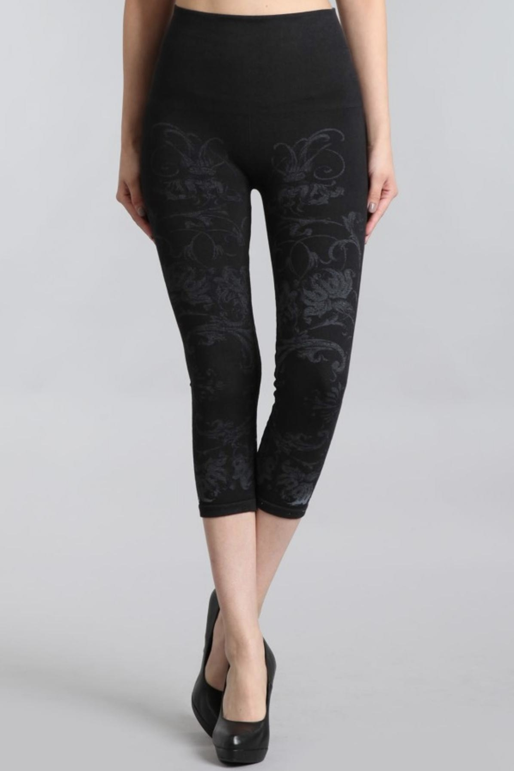 M. Rena Cropped Printed Leggings - Front Cropped Image