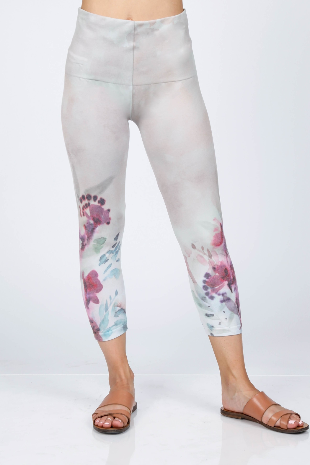 M. Rena Cropped Printed Leggings - Main Image