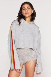 SPIRITUAL GANGSTER Cropped Rainbow Pullover - Product Mini Image