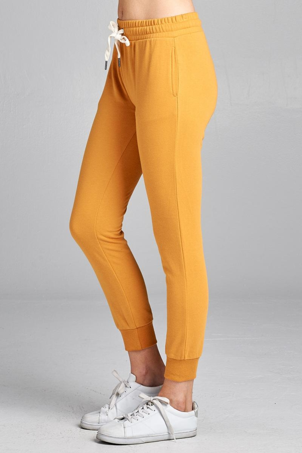 Active Basic Cropped Slim Joggers - Side Cropped Image